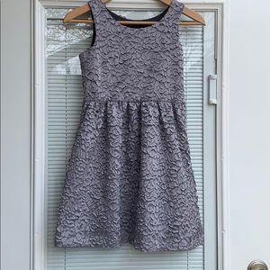 EUC GAP Girls Silver Dress
